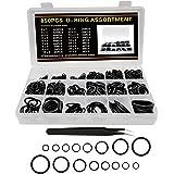 O-ring rubberen afdichting, assortiment 850 stuks, afdichtringen set M3-M27 voor reparatie van auto's en voertuigen
