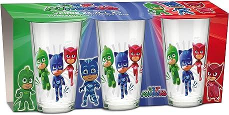 empireposter Glas-Set - PJ Masks - Pyjamaheld - 237 ml - 3 Gläser - Trinkglas Kinder Geschirr
