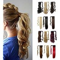 S-noilite Parrucchino parrucca Extension coda di cavallo di estensione dei capelli colori light brown & ash blonde 17…