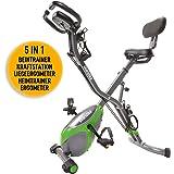 skandika Foldaway X-1000 lite/X-2000 /X-3000 Fitnessbike Heimtrainer X-Bike F-Bike Klappbar mit Handpuls-Sensoren - Ergometer - Hometrainer - Faltbares Fitness-Fahrrad