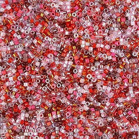 MIYUKI perles graines Delica taille 11/0mélange Fraise 7,2g