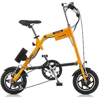 Nanoo EFB12 Electrica Bicicleta plegable elŽctrica con pedaleo asistido Nanoo Naranja