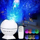 Sterrenhemel projector met afstandsbediening en geluidsensor, led-nachtlampje voor kinderen, babyslaapkamer, decoratie, Starr