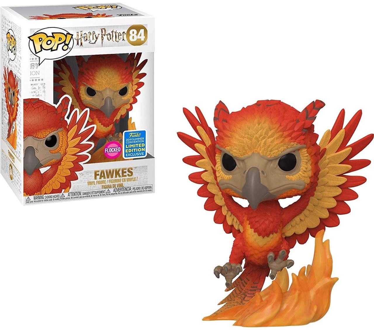 Funko Pop Fawkes (Flocked) – 2019 SDCC (Harry Potter 84) Funko Pop Harry Potter