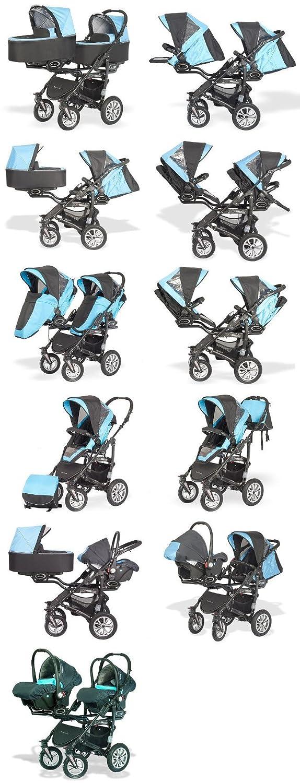 Zwillingskinderwagen mit babyschale  BabyActive