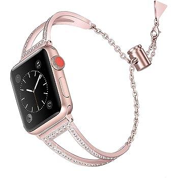 vialavida Bling Bracelet Compatible pour Apple Watch Iwatch séries 4 40 mm,  série 3  7862cb69adf