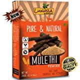 Luxura Sciences Natural Mulethi Powder For Skin Whitening 200 Grams, Licorice Powder For Body, Skin, and Hair.