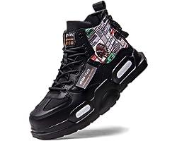 FUSHITON Scarpe Hi-Top da Uomo Moda Sneaker Bassa Sneaker da Corsa Scarpe Sportive da Passeggio per Fitness