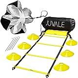 Juvale Hastighets- och agility träningsset – inkluderar agility stege, 6 skivkoner, motstånd fallskärm, 4 stålinsatser med bä