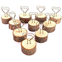 10 pezzi segnaposto, porta numeri da tavolo in legno rustico supporto da tavolo per segnaposto per memo foto decorative…