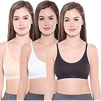 BODYCARE Women's Cotton & Spandex Non-Wired Sports Bra