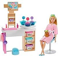Barbie alla Spa, Playset con Bambola, Cagnolino e Accessori, Giocattolo per Bambini 3+ Anni,GJR84