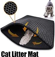 Cat Litter Mat, Cat Litter Trapping Mat, Honeycomb Double Layer Design,Super Soft EVA material, Urine and Water Proof Materi