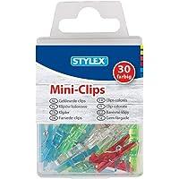 Stylex 24435 Lot de 30 mini pinces à linge en plastique 25 x 5 x 6 mm