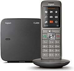 Gigaset CL660 Telefon - Schnurlostelefon / Mobilteil - mit Farbdisplay / Grosse Tasten - Design Telefon - Freisprechen - Analog Telefon - anthrazit