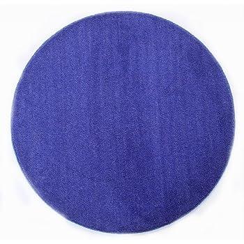 Fesselnd Homescapes Dekorativer Kurzflor Teppich Rund Blau   150 Cm