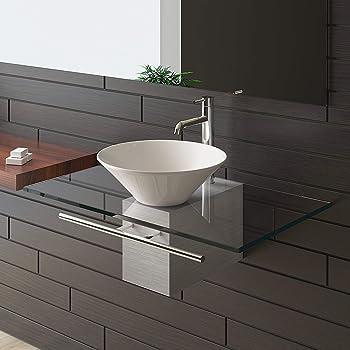 badezimmer 600 waschtisch unterschrank eiche wandh ngend aufsatz waschbecken. Black Bedroom Furniture Sets. Home Design Ideas