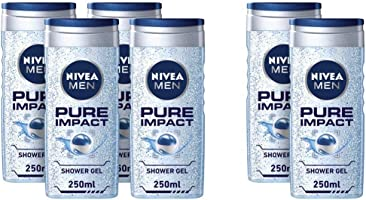 NIVEA, MEN, Shower Gel, Pure Impact, 250ml 4 + 2 free