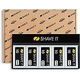 Amazon Exclusive Shave It, Lame a Doppio Taglio, Confezione da 10 (10 x 10 unità = 100 pezzi)