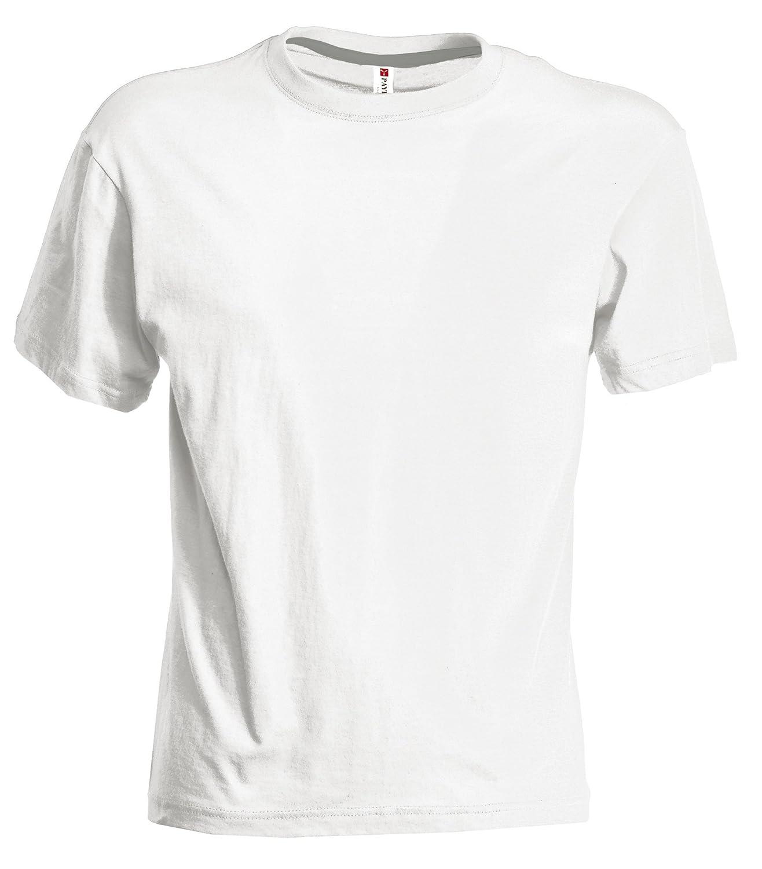 Herren T-Shirt Rundhals-Ausschnitt Casual Fit mit Rippstrickkragen:  Amazon.de: Bekleidung