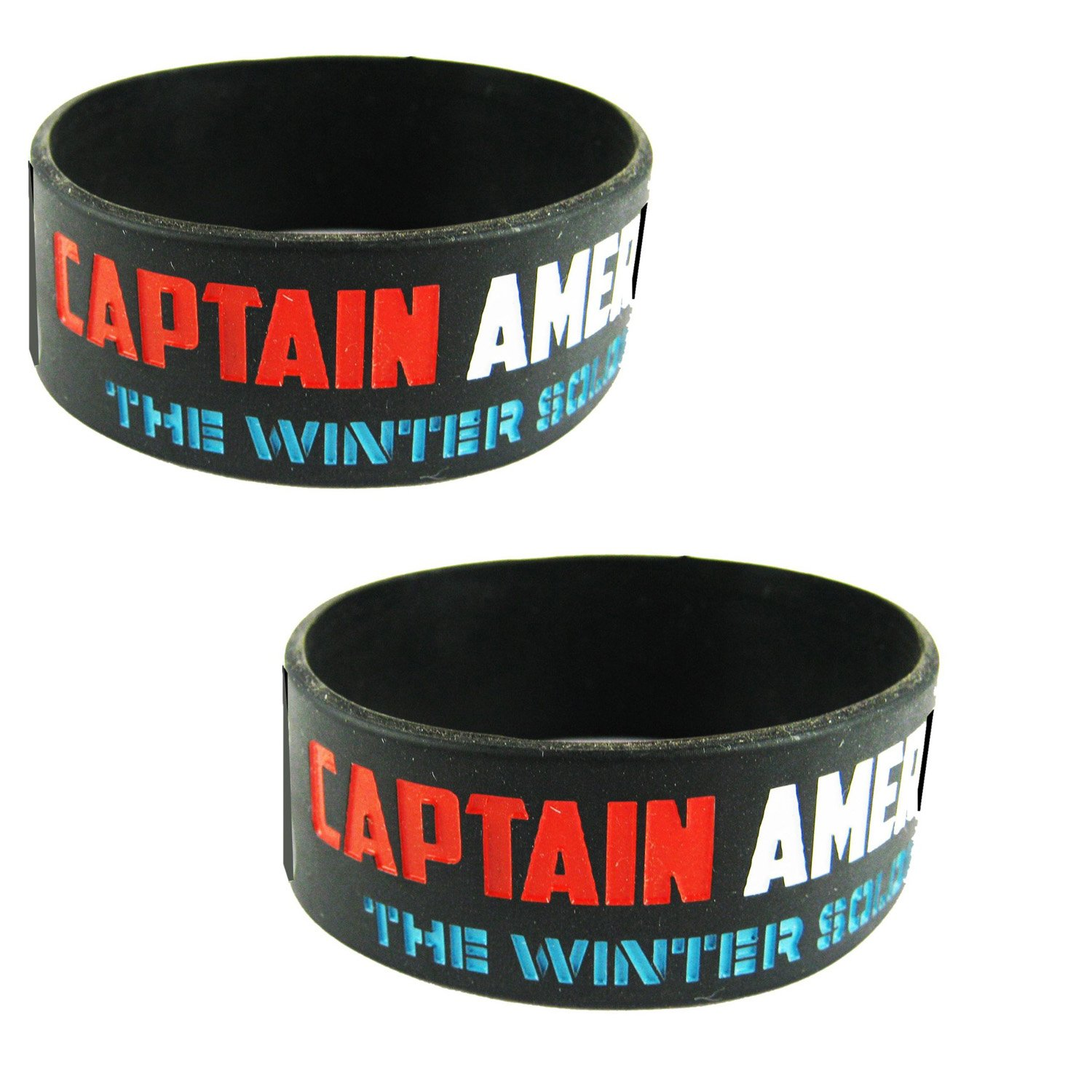 Buy Captain America wrist band Medium set of 2 pcs line at Low