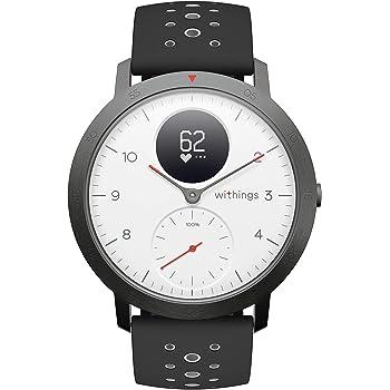 Withings Steel HR Sport Reloj Inteligente Híbrido, Unisex Adulto, Blanco, 40 mm