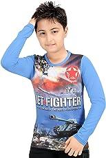 GRAND STITCH Kids Boy's T-Shirt   Cotton Polyester Blend T-Shirt   Printed Boys T-Shirt