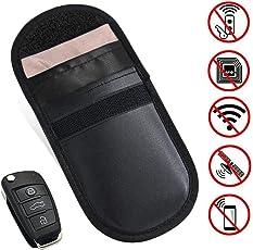 YYGIFT Keyless Go Schutz Autoschlüssel Etui RFID NFC Schlüsseletui Schutzhülle Abschirmung Universale Tasche Funkschlüssel Universal Auto Diebstahlsicherung Diebstahlschutz
