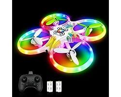 tech rc Drone pour Enfants Drone à Capteur Infrarouge Rotatif à 360° avec LED Lumières, Drone de Jouet Maintien de l'Altitude