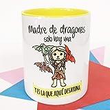 La Mente es Maravillosa - Taza con Frase y dibujo. Regalo original y gracioso (Madre de dragones solo hay una y es la que aqu