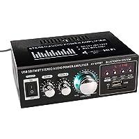 docooler Amplificatore Audio HiFi Stereo, 12V / 220V Display LCD Mini 2CH BT Radio Portatile Auto Casa 400W Telecomando…
