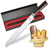 imarku Couteau à Pain Dentelée 25cm - Couteau de Pâtisserie Cuisine Qualité Supérieure, Couteau Pain Inoxydable Allemand, Man