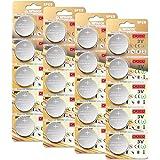 20 Stück CR2032 3V Batterien CR 2032 Knopfzelle (Lithium Knopfzellen - 3 Volt im 20-er Pack)
