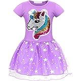 AmzBarley Vestido Princesa de Unicornio Fiesta Niña Tutu para Cosply Cumpleaños,Disfraz Tutu Princesa Unicornio Infantil Niña