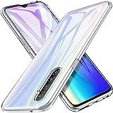 Pkila Coque pour Realme 6 Cover, Bumper Housse Etui de Protection Transparent en Silicone TPU Souple [Ultra Fin] [Ultra Léger] pour Realme 6