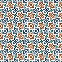 Pellicola adesiva - Arabian tile pattern with very nice color harmony, carta adesiva per mobili, pellicola plotter, pellicola arredi, pellicola vetro, pellicola decorativa, pellicola legno, DIY, cucina, soggiorno, comò, camerette, Dimensione: 300cm x 100cm
