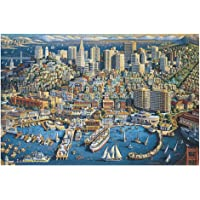 1000 Pieces 3D Jigsaw Puzzles, San Francisco Educational Gifts Puzzle Toy -Jigsaw for Family Entertainment white 200…