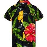 King Kameha Funky Chemise Hawaïenne | Hommes | XS - 6XL | Manche-Courte | Poche-Avant | Hawaiian-Imprimer | Ananas