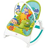 Fisher-Price CMR10 Rainforest Kompakt-Schaukelsitz 2-in-1 Wippe und Sitz zusammenklappbar für Babys und Kleinkinder, ab 0 Monaten, max. 18 kg
