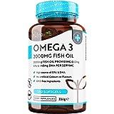 Omega-3 ren fiskolja 2000 mg – 660 mg EPA & 440 mg DHA per daglig portion – 240 mjuka gelkapslar – 4 månaders för-brukning –