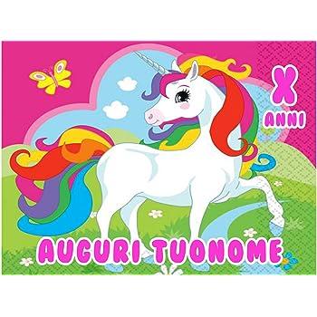 Wafers farma Cialda in Ostia per Torta Rettangolare Unicorno Arcobaleno  Personalizzata, cialde, ostie,