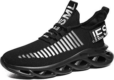 Tvtaop Mens Trainers Running Walking Shoes Fashion Air Sport Sneakers Outdoor Athletic Gym Fitness Workout Jogging Training