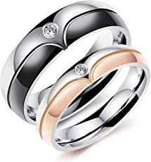 ANVI Jewellers Valentines Day Divine Special Couple Love Ring for Girlfriend and Boyfriend