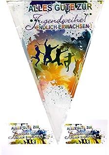 Robuste Servietten 40x Party Servietten mit Spruch Sch/ön dass ihr alle da seid F/ür Geburtstag Abschied /& Hochzeit Tischdeko-Servietten mit Spr/üchen Kommunion Konfirmation Dekoration