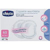 Chicco Coppette Assorbilatte con Antibatterico, 60 Pezzi