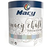 Macy - Halk verf voor binnen, krijteffect, poedercoating, decoratie je meubels, 750 ml, kleur krijtwit