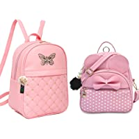 ShopyVid ® Girl's Cute Backpack Combo Set of 2 | Rakhi Gifts for Sister