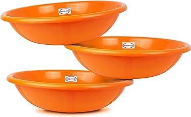 Pepper Agro Multipurpose Plastic Tub Buckets Bowls Basket 16 inch Set of 3