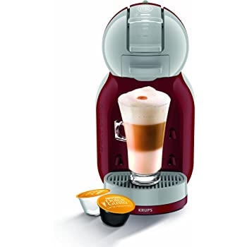 Nescafé Dolce Gusto KP120540 Mini Me Coffee Machine, 1500 W, Red/Grey