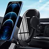 Mpow Soporte Móvil Coche, Soporte Móvil Télefono para Rejilla del Aire Ventilación con Abrazadera Ajustable y 360° Rotación,